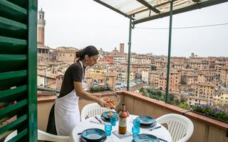 Dinner at Cesarina Elettra's house. Things to do in Siena