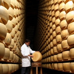 "Let's meet the ""King of cheeses"": the Parmesan cheese. Things to do in Parma"