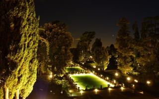 Baths in thermal water & Villa d'Este by night. Things to do in Tivoli